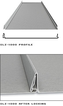 Snap Lock Z1000 Standing Seam Roof Panels Copper